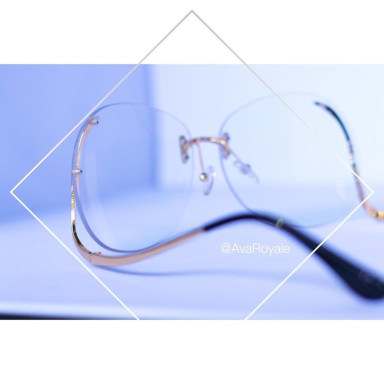 clear rimless sunglasses
