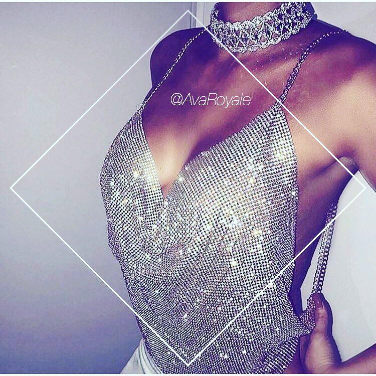Silver diamond Rhinestone