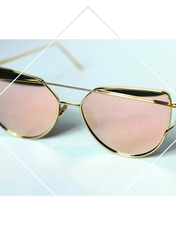 Ava Royal Rose Gold cats eyes vintage sunglasses